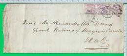 PADDINGTON. LONDRA. .Annullo.  PENCE. AMBULANTE. MODANE. TORINO. Penny. - 1840-1901 (Victoria)