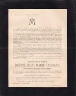 SAINT-NICOLAS DRONGEN Joseph Jean JANSSENS Ancien Provincial Compagnie De Jésus Jésuite 1826-1900 - Décès