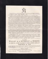 SOIGNIES Accident Navigation ALBERTVILLE 13 Octobre 1929 Berthe PARTHON De VON épouse De La KETHULLE 1906-1929 Tournai - Décès