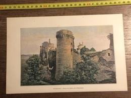 1901 NEURDEIN FRERES PLEDELIAG RUINES DU CHATEAU DE LA HUNAUDAYE DINAN RUE DU JERSUAL - Collections