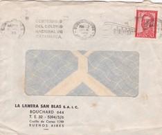 LA LANERA SAN BLAS. BUENOS AIRES-COMMERCIAL ENVELOPPE CIRCULEE 1944 BANDELETA PARLANTE - BLEUP - Lettres & Documents
