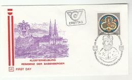 1976 Klosterneuburg Special FDC  BABENBERG ROYALTY HERALDIC Stamps AUSTRIA Cover Illus ABBEY Church Religion - Churches & Cathedrals