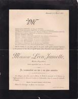 HANNUT TROGNEE Léon JAMOTTE Rentier-propriétaire Famille SNYERS 75 Ans 1899 Famille VANDERMEER GOFFINET - Décès