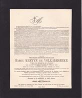 NAZARETH ASTENE François-Georges Baron KERVYN De VOLKAESBEKE 1883-1928 Juge De Paix GAND Volontaire Guerre 14-18 - Décès