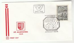 1976 Linz Special FDC SAILING SHIP PEASANTS WAR Stamps AUSTRIA Cover Heraldic - FDC