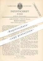 Original Patent - James Pearson , Preston , England 1885 , Mundstück Für Schmierkanne | Ölkanne | Öl , Schmieröl | Kanne - Historische Dokumente