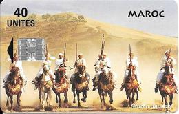 CARTE+PUCE-MAROC-40U-SC7-FANTASIA-V° CITE Touristique-AGADIR-UTIL-TBE - Maroc