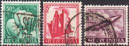 INDIA 1967 - FRUTTI, MANGO + PIANIFICAZIONE FAMILIARE + AEREI - 3 VALORI USATI - Usati