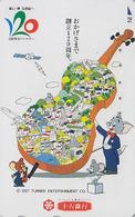TC Japon / 110-016 - COMICS - AVION CONCORDE & TOM & JERRY Sur VIOLONCELLE - CHAT  SOURIS  CAT MOUSE Space Japan Pc 2255 - Avions
