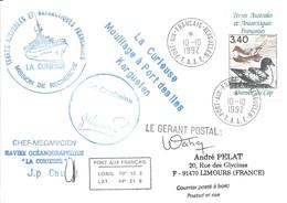 TAAF - Port Aux Français-Kerguelen: Lettre Avec Timbre Poste Aérienne N°121 Damier Du Cap - 10/10/1992 - French Southern And Antarctic Territories (TAAF)