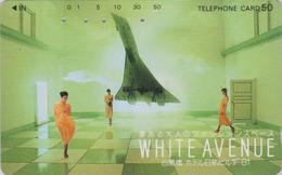 Télécarte Japon / 330-51185 - AVION - CONCORDE ** Série WHITE AVENUE ** - PLANE AIRLINES Japan Phonecard -  2257 - Avions
