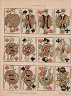 Le Nouveau Jeu - Cartes à Jouer -  Décembre 1898 - Affaire Dreyfus - Dessin De J. Dépaquit - 2 Scans - Affiches