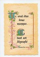 Citation De Lamartine: Un Seul Etre Vous Manque Et Tout Est Depeuple (19-719) - Philosophie & Pensées
