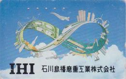 Télécarte Japon / 110-016 - AVION - CONCORDE & Satellite - PLANE AIRLINES Japan Phonecard SPACE - FLUGZEUG -  2258 - Avions