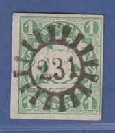 Bayern Wappen 1 Kreuzer Grün Mi-Nr. 14a  Mit GMR 231 Kadolzburg  - Bavière