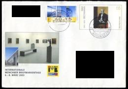 Allemagne Fédérale - Germany - Deutschland Entier Postal 2003 Y&T N°2143 - Michel N°2315 (o) - 55c œuvre De M Beckmann - [7] Repubblica Federale