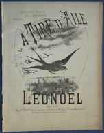 CAF CONC GALOP PIANO GF PARTITION XIX À TIRE D'AILES LÉONOËL LÉON BARABAN [NANCY] 1886 HIRONDELLE - Otros