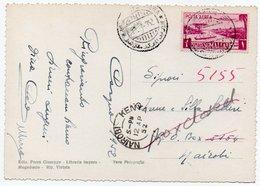 SOMALIA AFIS - MOGADISCIO SCORCIO PANORAMICO / THEMATIC STAMP-AIRPLANE 1 So./ CIRCULATED TO NAIROBI - 1952 - Somalia (AFIS)