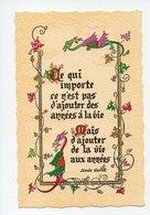 Citation D'Alexis Carrel: Ce Qui Importe Ce N'est Pas D'ajouter Des Annees à La Vie, Mais D'ajouter De La Vie Aux Annees - Philosophie & Pensées
