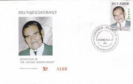 PERSONAJES ECUATORIANOS, HOMENAJE AL DR MISAEL ACOSTA SOLIS-FDC 1998 ECUADOR FULL CONTENT INSIDE - BLEUP - Equateur