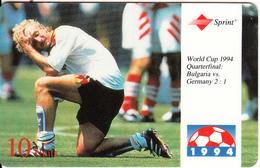 USA - World Cup USA 1994, Bulgaria Vs Germany(Quarterfinal), Sprint Prepaid Card 10 Units, Tirage 20000, 05/95, Used - United States