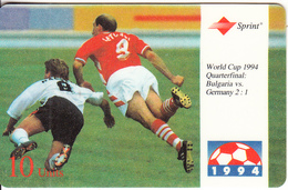 USA - World Cup USA 1994, Bulgaria Vs Germany(Quarterfinal), Sprint Prepaid Card 10 Units, Tirage 20000, 08/95, Used - United States