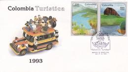 COLOMBIA TURISTICA-FDC 1993 BOGOTA. COLOMBIA TIMBRE AVEC NATURAL PANORAMAS - BLEUP - Vacaciones & Turismo