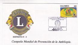 LIONS INTERNATIONAL DISTRITO F3 CAMPAÑA DE PREVENCION AMBLIOPIA-FDC 1993 COLOMBIA - BLEUP - Rotary, Lions Club
