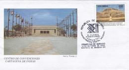 CENTRO DE CONVENCIONES CARTAGENA DE INDIAS-FDC 1995 COLOMBIA - BLEUP - Colombia