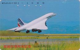 Télécarte Japon / 390-05511 - AIR FRANCE - AVION - CONCORDE - AIRLINES Japan Phonecard -  2264 - Avions