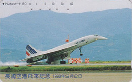 Télécarte Japon / 390-05512 - AIR FRANCE - AVION - CONCORDE - AIRLINES Japan Phonecard -  2265 - Avions