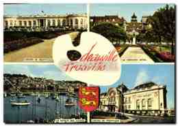 CPM Deauville Trouville Casino Normandy Hotel Bassin Des Yachts - Deauville