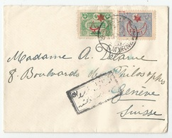 Ottoman Empire Turkey Türkei Turquie Censored Cover 1917 To Switzerland - 1858-1921 Ottoman Empire