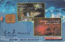 TARJETA TELEFONICA DE MALTA. (009) FAUNA - Malte