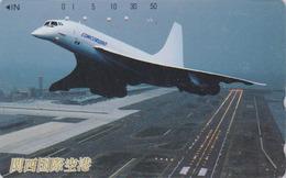 Télécarte Japon / 110-011 - AVION - CONCORDE - AIRLINES Japan Phonecard -  FLUGZEUG - Aviation 2267 - Avions