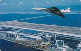 Télécarte Japon / 110-011 - AVION - AIR FRANCE - CONCORDE - AIRLINES Japan Phonecard -  FLUGZEUG - Aviation 2268 - Avions