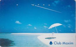 Télécarte Japon / 110-011 - AVION - CONCORDE - AIRLINES & Beach Japan Phonecard ** Club Maxim ** - Aviation France  2269 - Avions