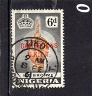 1960 Overprint NIGERIA ISSUES 6d Used - Colony: Cameroun