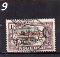 1960 Overprint NIGERIA ISSUES 1/- Used - Colony: Cameroun