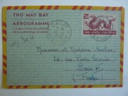 """THO MAY BAY"" AEROGRAMME WIET-NAM  Timbre 3,50 Hans-Khonc Buu-Chinh Oblitération Dalt 1955  Avril Clas Let - Vietnam"