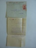 Lettre N° 10 PHNOM-PENH -CROIX ROUGE FRANCAISE  Timbre POSTE  INDOCHINE  Philippe PETAIN  1943   Flamme Soyon Confiant - Indochine (1889-1945)