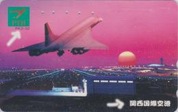 Rare Télécarte Japon / 110-011 A - AVION - CONCORDE - AIRLINES & Sunset Japan Phonecard  - Aviation France  2270 - Avions