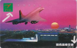 Télécarte Japon / 110-011 B - AVION - CONCORDE - AIRLINES & Sunset Japan Phonecard  - Aviation France  2271 - Avions