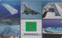 RARE Télécarte Japon / 110-011 - AVION - CONCORDE - AIRLINES Japan Phonecard - FLUGZEUG - Aviation France  2272 - Avions
