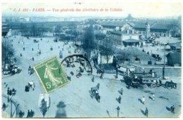 75019 PARIS - Vue Générale Des Abattoirs - Fiacre La Villette / St-Sulpice - Joli Sépia Bleuté - District 19
