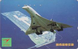 Télécarte Japon / 110-011 - AVION - CONCORDE - AIRLINES Japan Phonecard - FLUGZEUG -  Aviation France  2274 - Avions