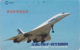 RARE Télécarte Ancienne Japon / 110-011 - AIR FRANCE - AVION - CONCORDE  - AIRLINES Japan Phonecard - 2279 - Avions