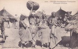 Femmes Cereres Aux Seins Nus Tbe Non écrite Dos Vert - Senegal