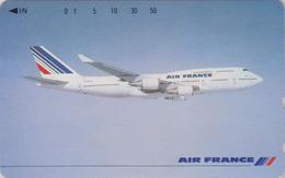RARE Télécarte NEUVE Japon / 110-011 - AIR FRANCE - AVION - PLANE AIRLINES Japan MINT Phonecard - FLUGZEUG - 2281 - Avions