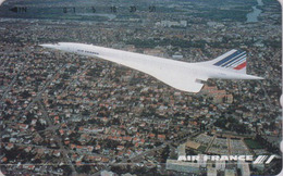 Télécarte NEUVE Japon / 110-011 - AIR FRANCE - AVION - CONCORDE -  PLANE AIRLINES Japan MINT Phonecard - 2282 - Avions